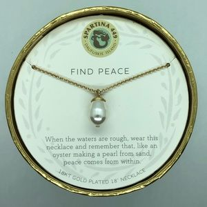 "SLV ""Find Peace"" Pearl Necklace"